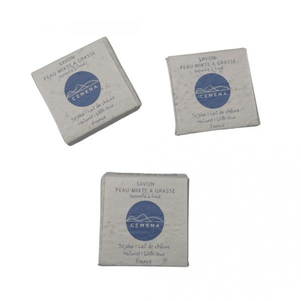 3 savon acné lait de chèvre
